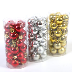 24 Pieces Christmas Ball Pack - Aramis Trading