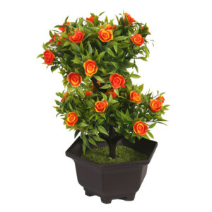 Artificial Tabletop Potted Plant Orange - Aramis Trading